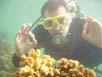 ...einer unserer Gäste in 15 Metern Tiefe
