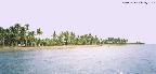 komplette Länge des Strandes der Basis hier kann man ungestört Sonnenbaden